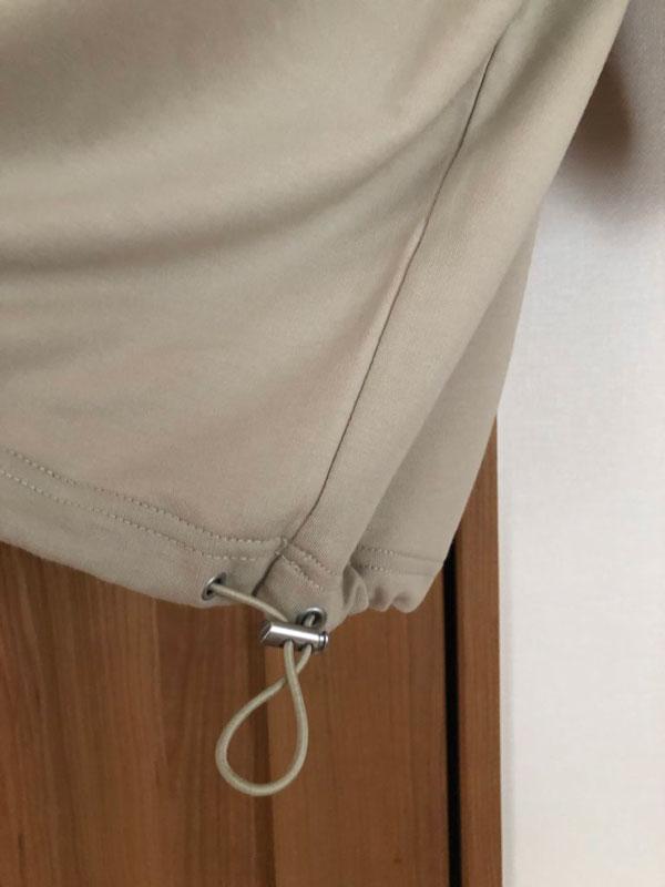 ベイフロー ミニウラケパーカーの裾