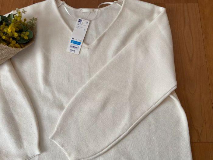 GU スムースコクーンセーターの袖