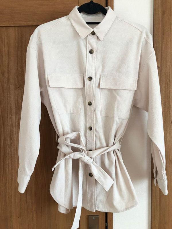 GU コーデュロイベルテッドオーバーサイズシャツ