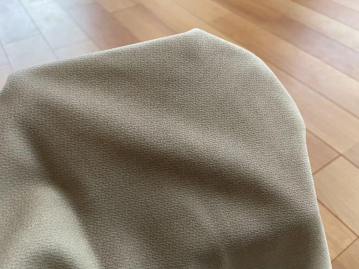 GUバックル付きサロペットワイドパンツ 生地の透け感